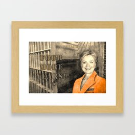 Four More Years! HRC Framed Art Print