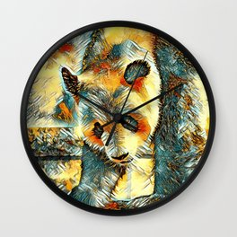 AnimalArt_Panda_20170706_by_JAMColorsSpecial Wall Clock