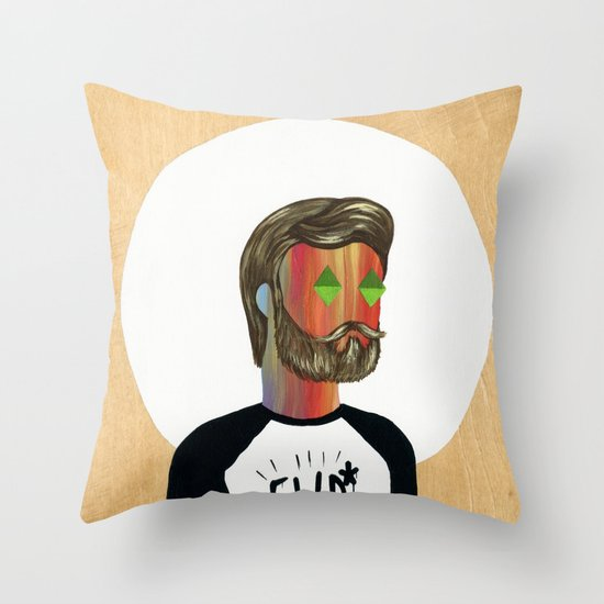6x6 Man Throw Pillow