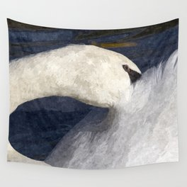The Shy Swan Art Wall Tapestry
