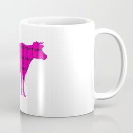 Cow: Pink Plaid Coffee Mug