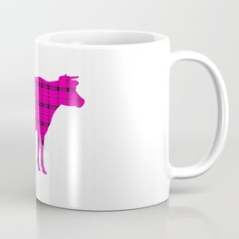 Cow: Pink Plaid Coffee Mug