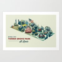 Tower Grove Park Art Print