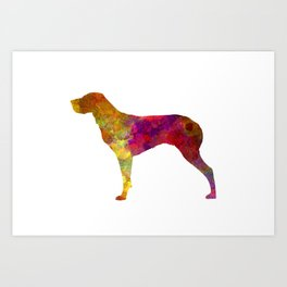 Burgos Pointer in watercolor Art Print