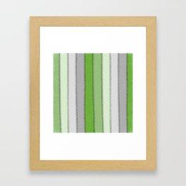 Green lines Framed Art Print