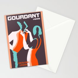 Retro style Art Deco French fashion ad Stationery Cards