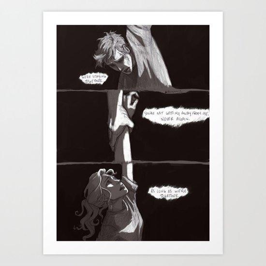 A one-way trip Art Print