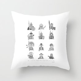 All Warriors Throw Pillow