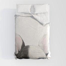 French Bulldog Dog illustration original painting print Comforters