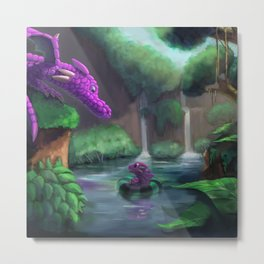 Great  Pink Dragon Metal Print