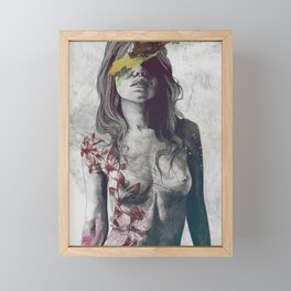 To The Marrow: Autumn (nude faceless girl in topless with lilies) Framed Mini Art Print
