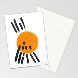 Mango Sun Mid Century Modern Minimalist Funk Cool Shapes Stationery Cards