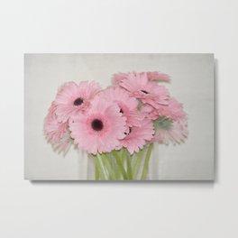 Pink Gerbera Flowers Metal Print