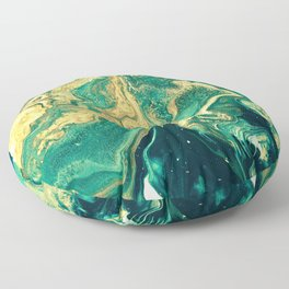 M A R B L E - emerald & brass Floor Pillow