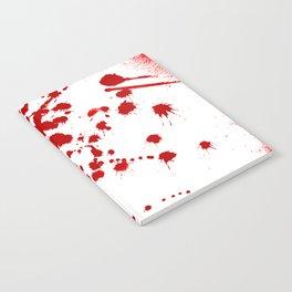 Red Splatter Notebook