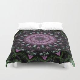 Rose And Jade Geometric Fantasy Mandala Pattern Duvet Cover