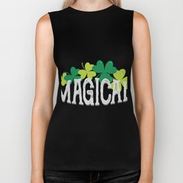 Magical Love Unicorn St Patricks Day Kids Girl Women Biker Tank