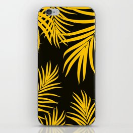 Palm Leaves Pattern Yellow Vibes #1 #tropical #decor #art #society6 iPhone Skin