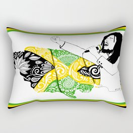 Jamaica -  Freedom Time Rectangular Pillow
