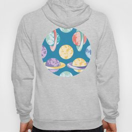 Colorful Planets Pattern Hoody