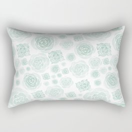 Home Decor Succulents: Sage Rectangular Pillow
