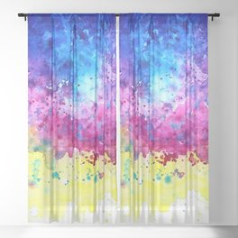 Splatter Sheer Curtain
