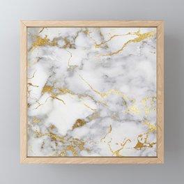 Italian gold marble Framed Mini Art Print
