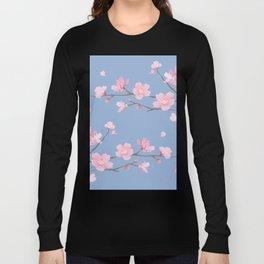 Cherry Blossom - Serenity Blue Long Sleeve T-shirt