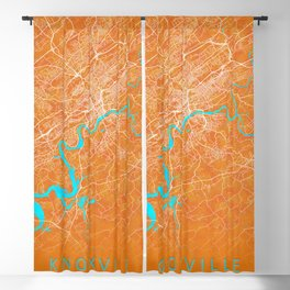 Knoxville, TN, USA, Gold, Blue, City, Map Blackout Curtain