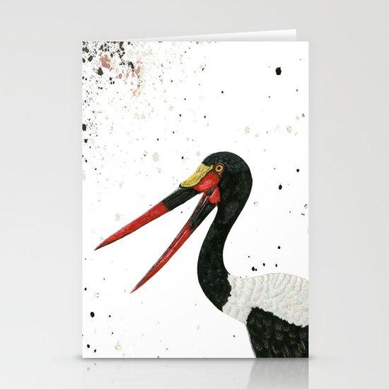 Saddle-billed Stork Quinn Stationery Cards
