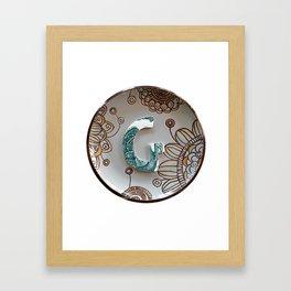 Love Letters to Dinnerware - G Framed Art Print