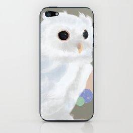 White Owl and Geometry iPhone Skin