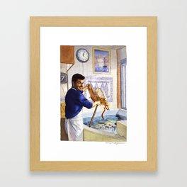 Portuguese Eel Seller Framed Art Print