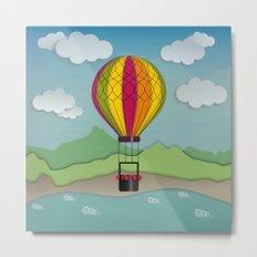 Balloon Aeronautics Sea & Sky Metal Print
