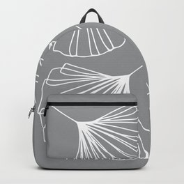 Ginkgo Leaves Minimal Line Art Ultimate Gray Backpack