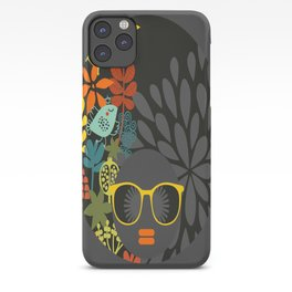 Afro Diva : Sophisticated Lady Gray iPhone Case