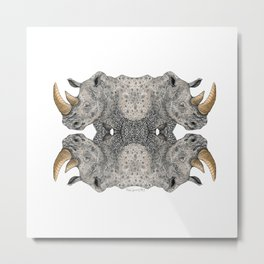 Rhino Totem Metal Print