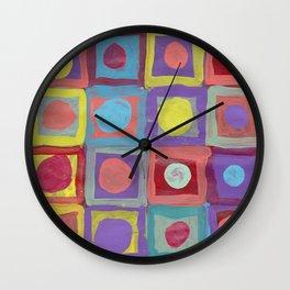 Circles and Squares Wall Clock