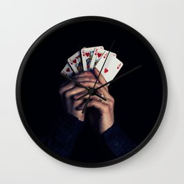 cards poker win Wall Clock