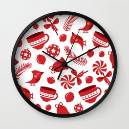 Christimas Pattern III Wall Clock