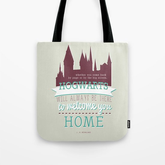 Hogwarts will Welcome You Home. Carry all your Hogwarts spell books in this fun Harry Potter tote bag.