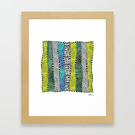 Happy Stripe Framed Art Print