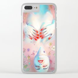 Flower Bath 5 Clear iPhone Case
