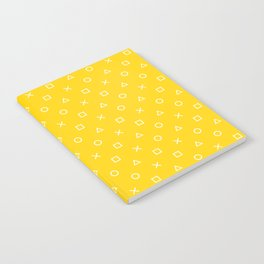 Yellow Gamer Pattern Notebook