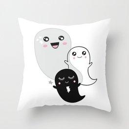 Ghost Kawaii Halloween cute gift kids children kidsroom Throw Pillow