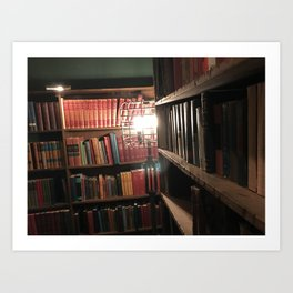 Live in the Library Art Print