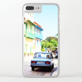 136. The lonely cat, Cuba Clear iPhone Case