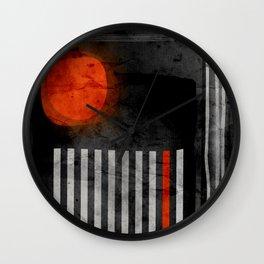 orange wants to be black Wall Clock
