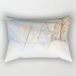 Cotton Latte Marble - Ombre blue and ivory Rectangular Pillow