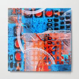 deep coral blue sea Metal Print